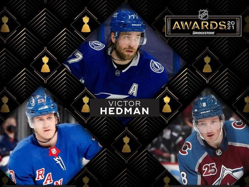 Victor Hedman, Cale Makar a Adam Fox sú nominovaní na Norrisovu trofej