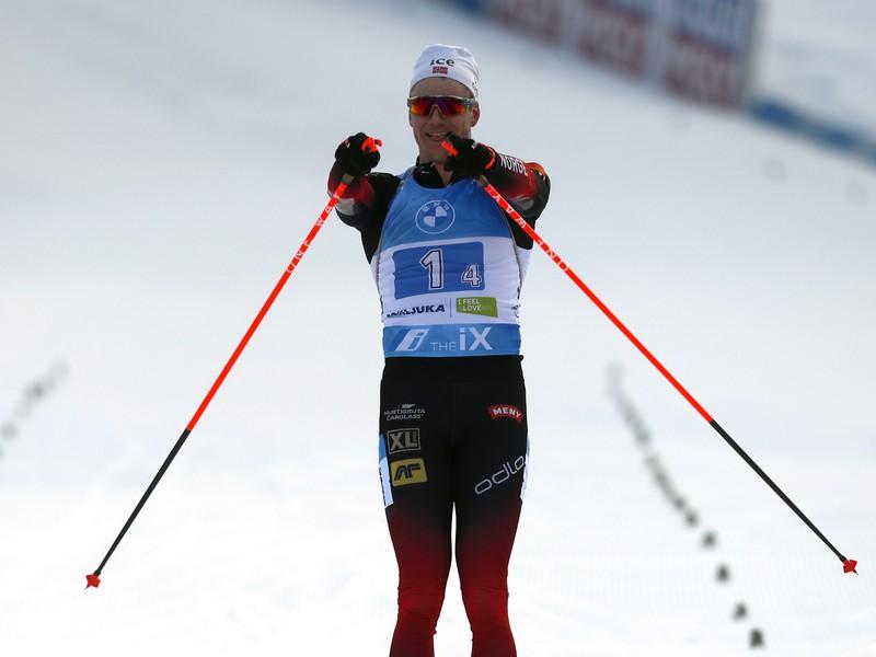 Vetle Sjaastad Christiansen a jeho víťazné oslavy