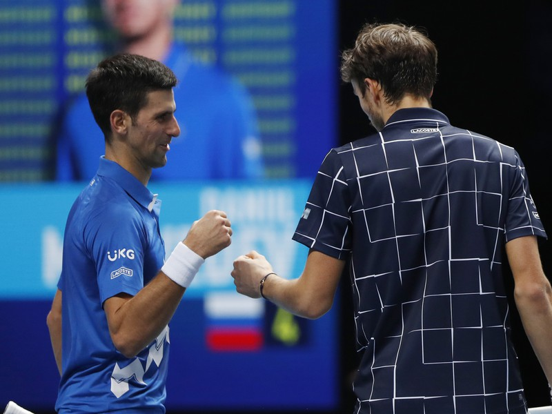 Novak Djokovič verzus Daniil Medvedev