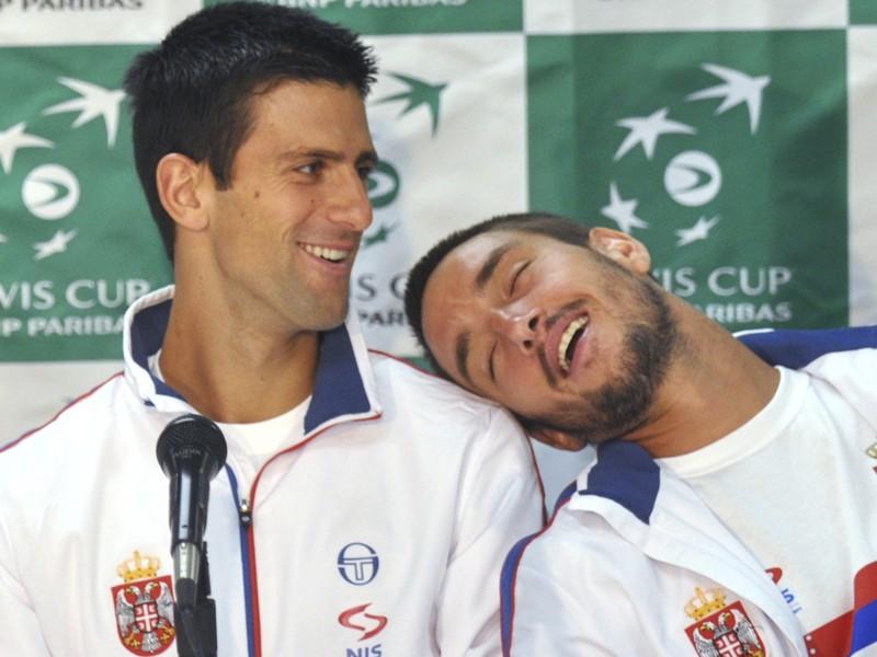 Novak Djokovič a jeho kamarát Viktor Troicki