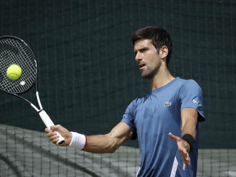Novak Djokovič pred štartom Wimbledonu