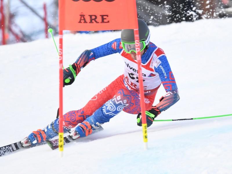 Na snímke slovenský slalomár Matej Falat