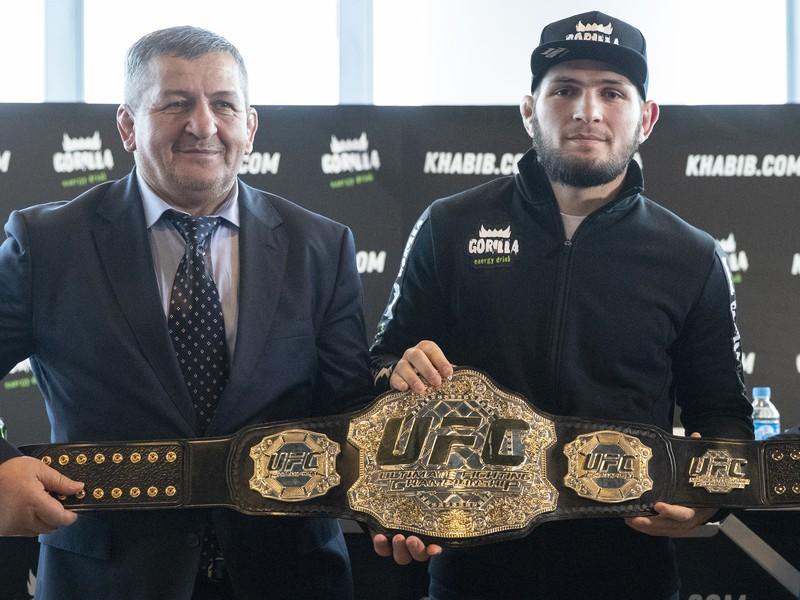 Chabib Nurmagomedov a jeho otec