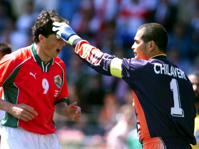 Jose Luis Chilavert (vpravo)