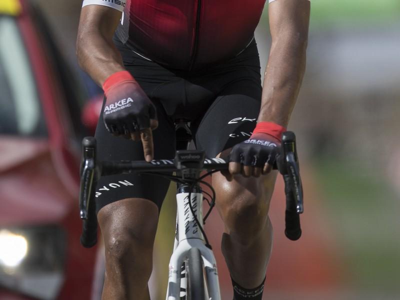 Na snímke kolumbijský cyklista Nairo Quintana