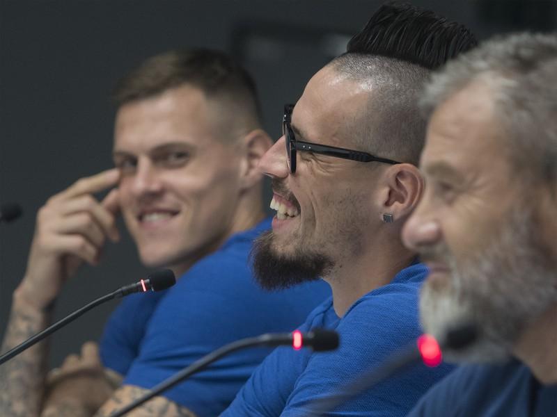 Martin Škrtel, Marek Hamšík a Pavel Hapal