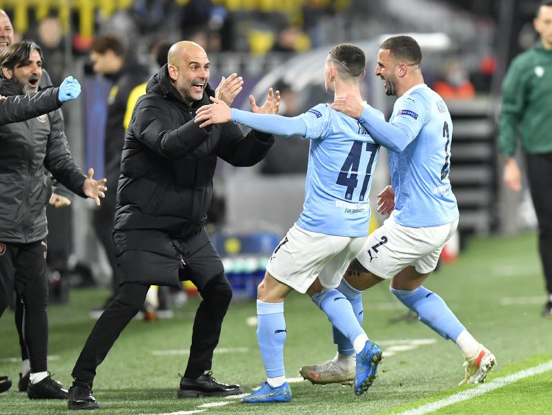 Pep Guardiola sa raduje s hráčmi City