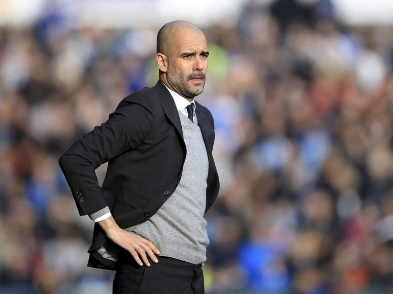 Tréner anglického futbalového klubu Manchester City Pep Guardiola