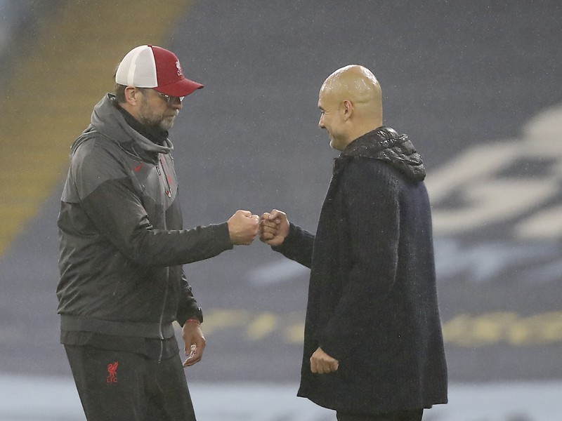 Jürgen Klopp a Pep Guardiola