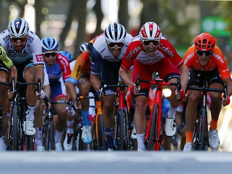 Peter Sagan v záverečnom špurte 14. etapy