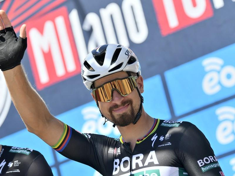 Peter Sagan pred štartom pretekov Miláno - Turín