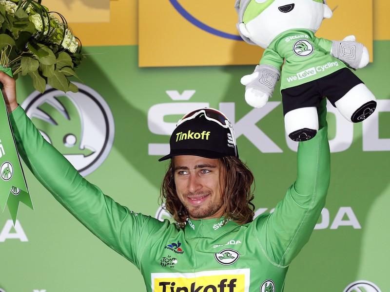 Peter Sagan znovu v zelenom tričku