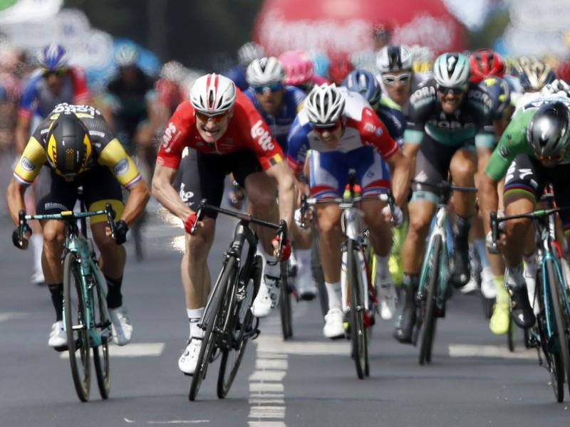 Peter Sagan v záverečnom špurte ôsmej etapy