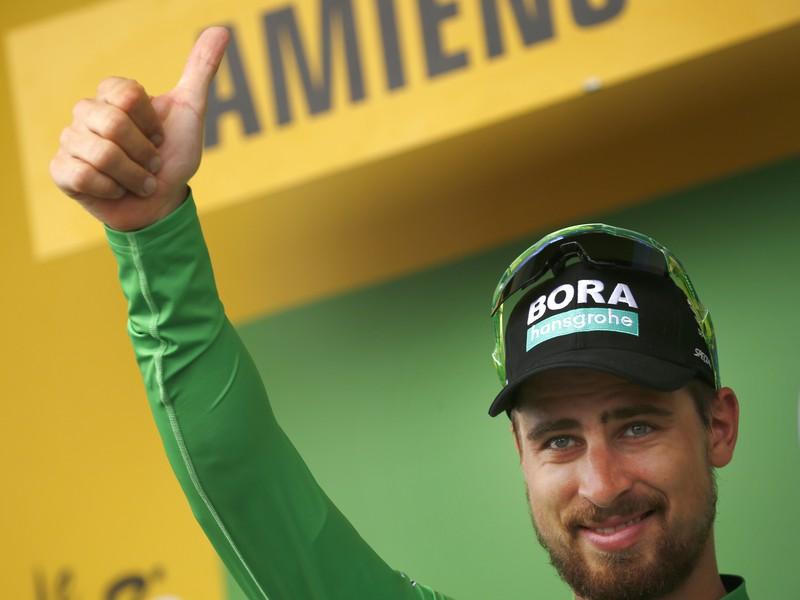 Peter Sagan aj po ôsmej etape v zelenom