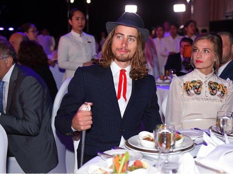 Peter Sagan a Katarína Saganová zaujali aj svojimi outfitmi