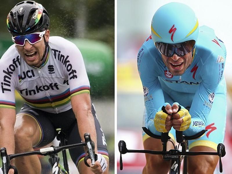 Sagan a Nibali