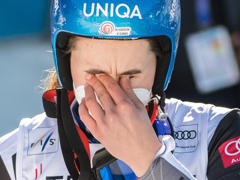 Dojatá Petra Vlhová po triumfe v obrovskom slalome