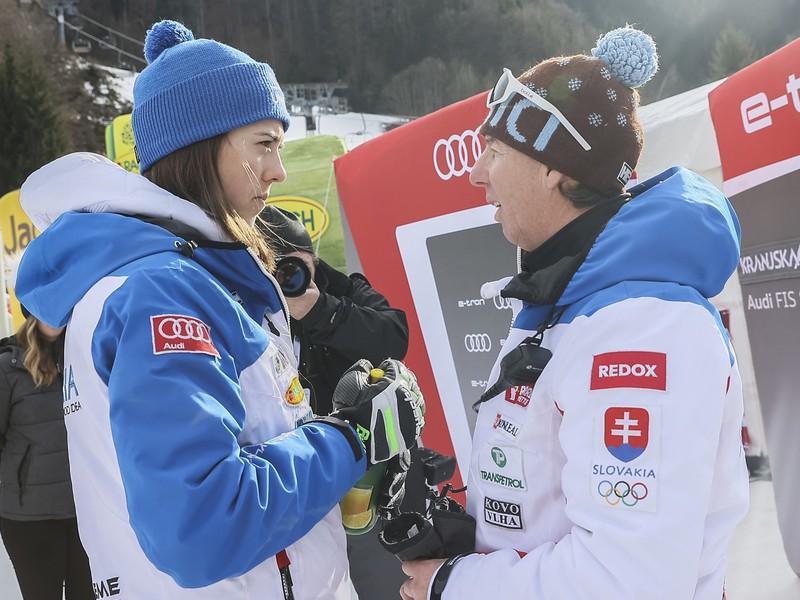 Petra Vlhová a jej bývalý tréner Livio Magoni