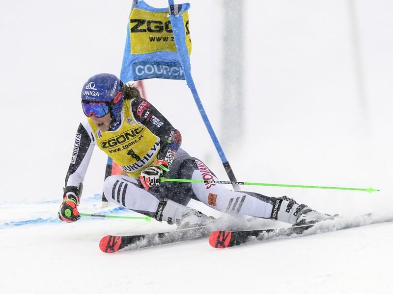 Petra Vlhová v prvom kole obrovského slalomu v Courcheveli