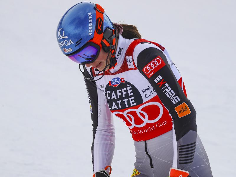 Slovenská lyžiarka Petra Vlhová v 2. kole slalomu Svetového pohára v alpskom lyžovaní vo švajčiarskom Lenzerheide
