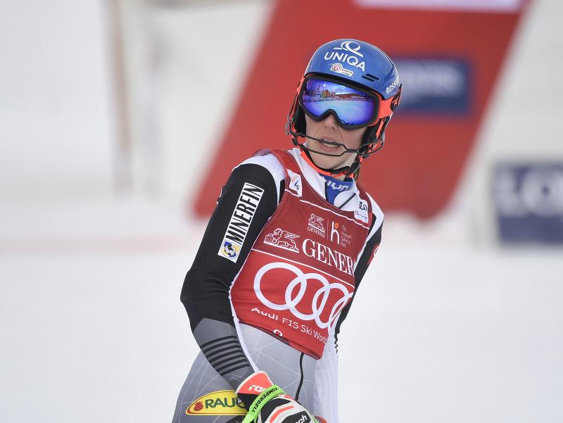 Petra Vlhová počas pretekov Svetového pohára