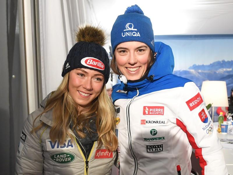 Mikaela Shiffrinová a Petra Vlhová pred žrebom vo Flachau