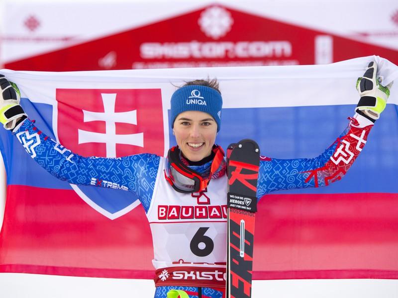 Na snímke slovenská lyžiarka Petra Vlhová získala bronz v slalome na majstrovstvách sveta