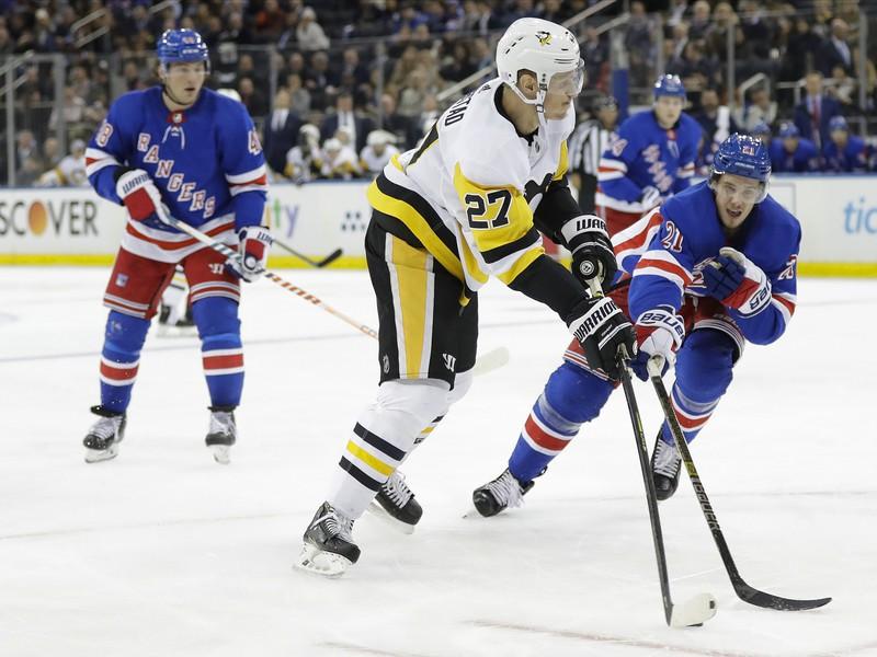 Nick Bjugstad v drese Pittsburghu Penguins
