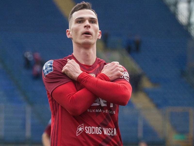 Ľubomír Tupta oslavuje svoj premiérový gól