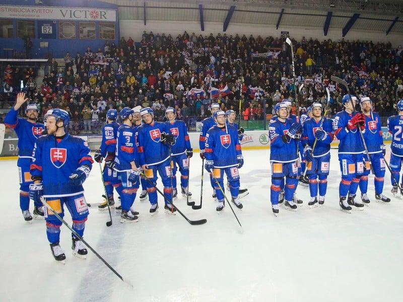 Slovenskí hokejisti po finálovom triumfe nad Ruskom