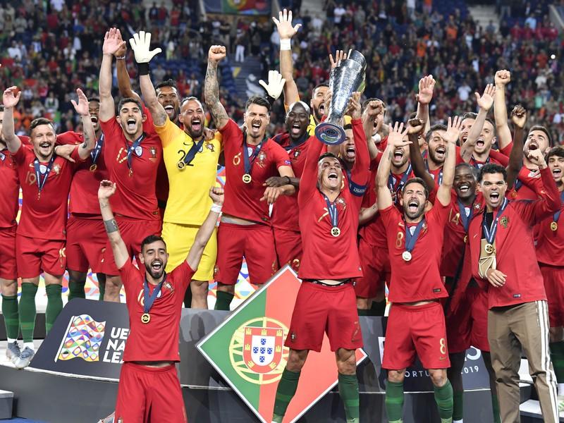 Portugalsko oslavuje triumf v Lige národov