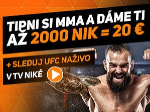 Sledujte UFC naživo a získajte až 2000 nikov!