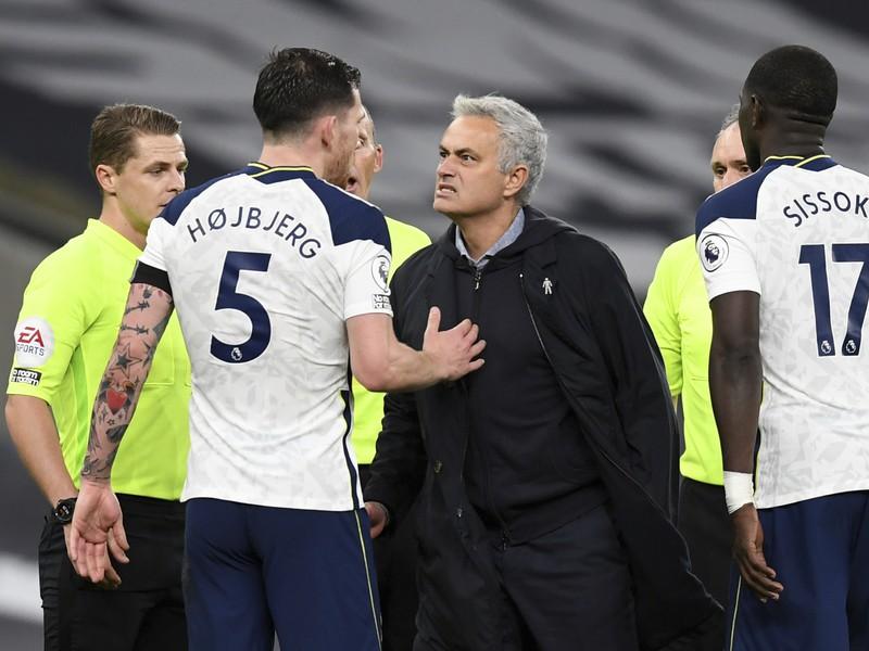José Mourinho a futbalisti Tottenhamu