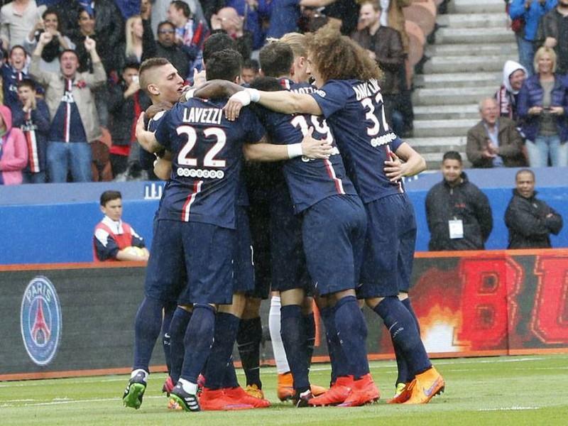Gólové oslavy futbalistov PSG