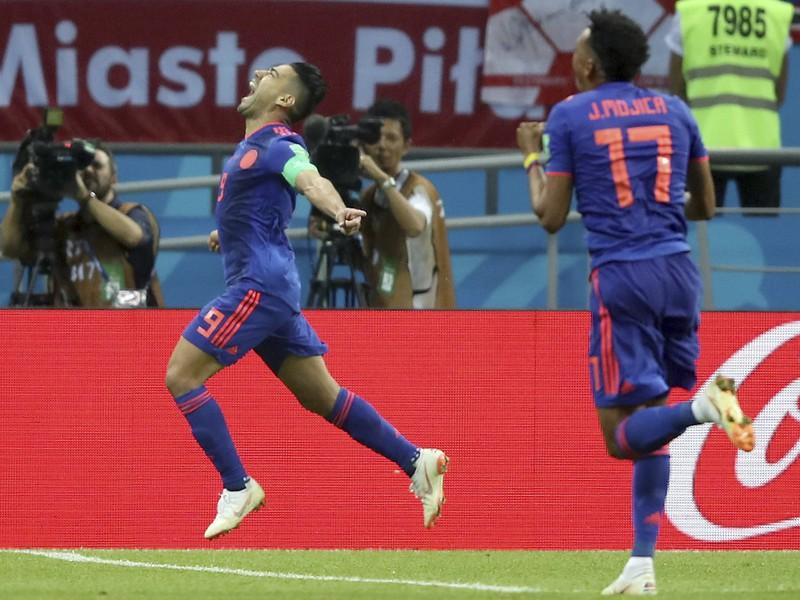 Radamel Falcao oslavuje gól