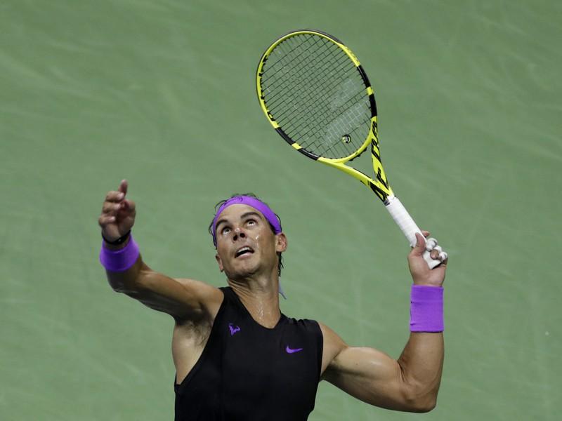 Rafael Nadal v štvrťfinálovom zápase US Open 2019