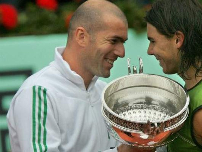 Zinedine Zidane a Rafael Nadal