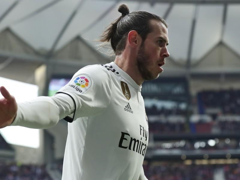 Gareth Bale v mestskom derby proti Atléticu Madrid