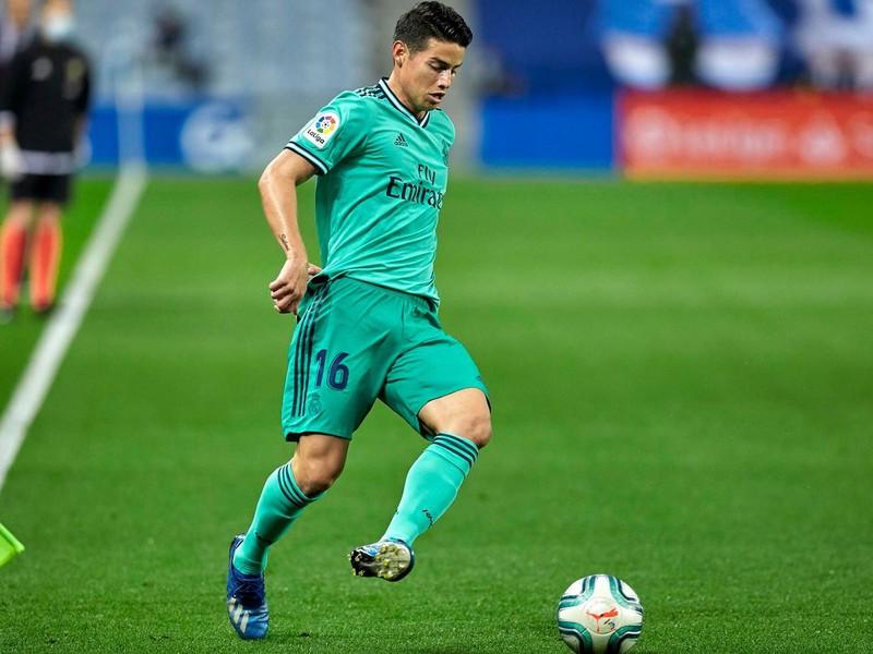 James Rodriguez v drese Realu Madrid