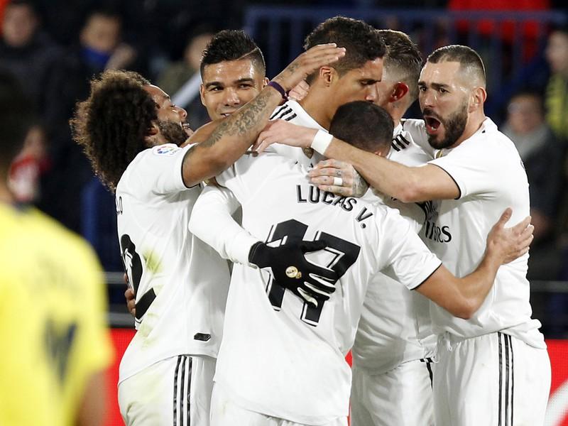 Hráči Realu sa radujú z gólu