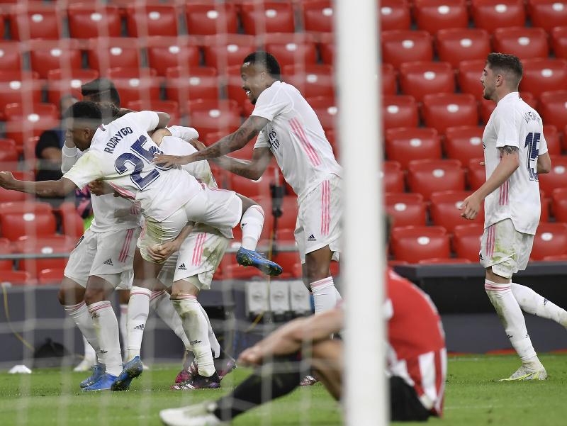 Real Madrid oslavuje gól