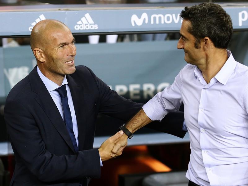 Zinedine Zidane a Ernesto Valverde