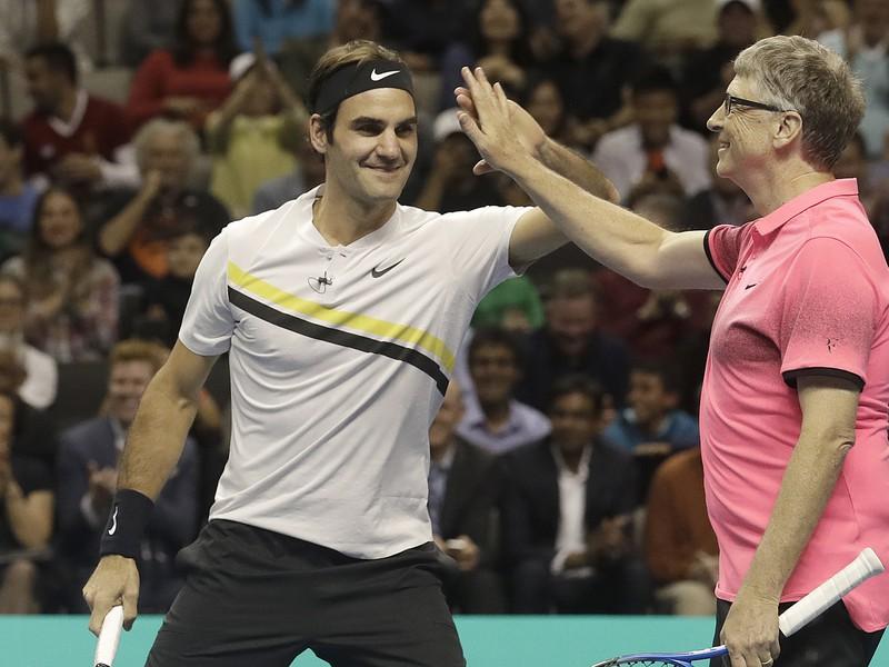 Roger Federer a Bill Gates
