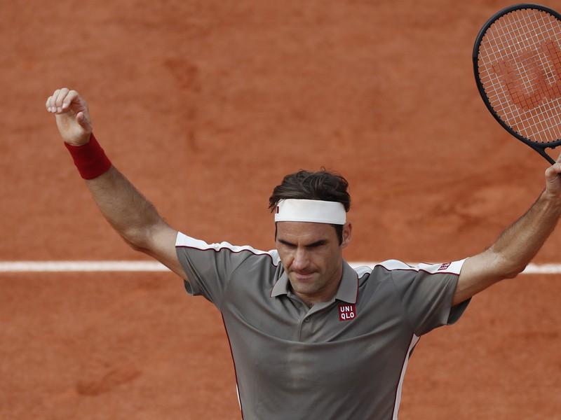 Na snímke švajčiarsky tenista Roger Federer