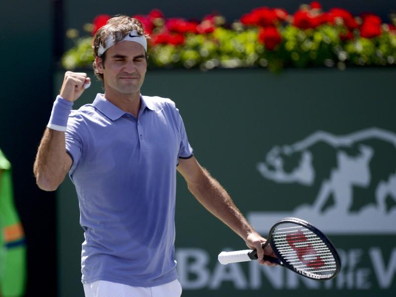 Roger Federer a jeho víťazná radosť