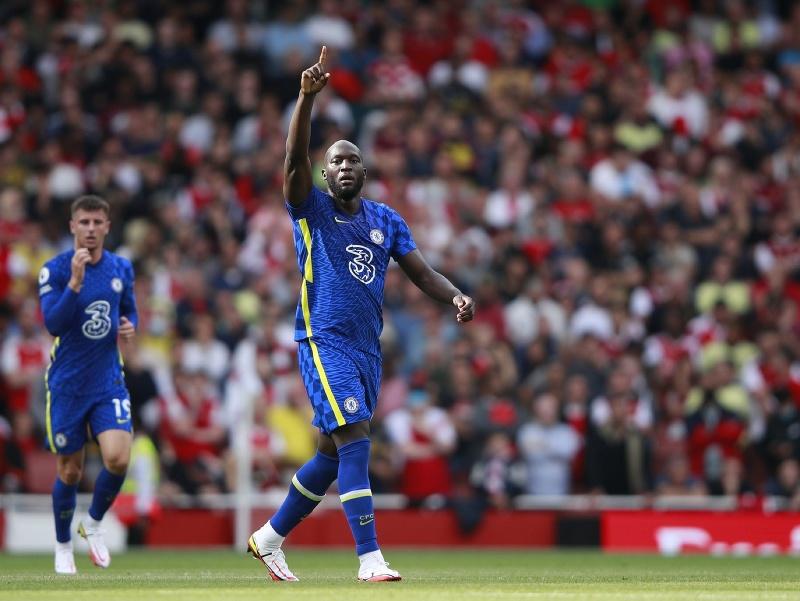 Romelu Lukaku sa teší z gólu v drese Chelsea