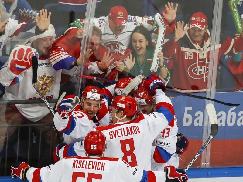 Gólové oslavy ruských hokejistov