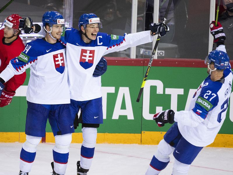 Radosť slovenských hokejistov