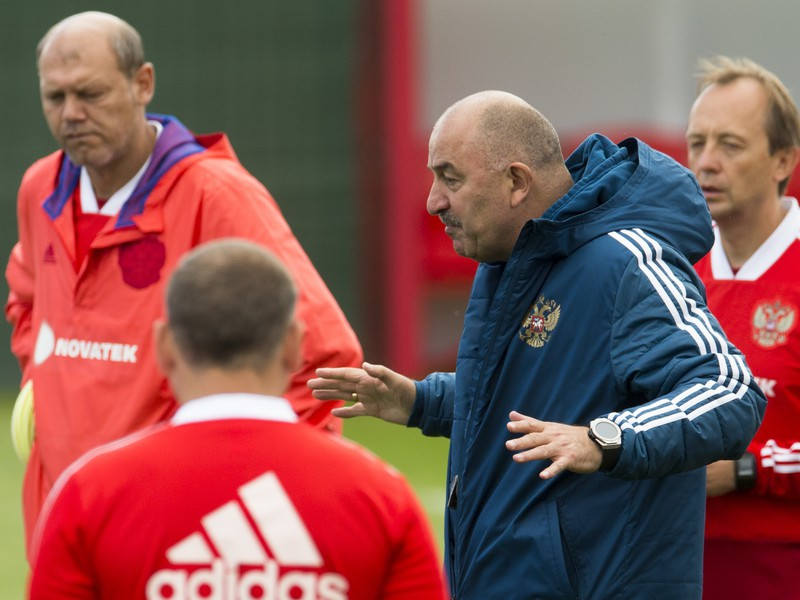 Tréning ruských futbalistov