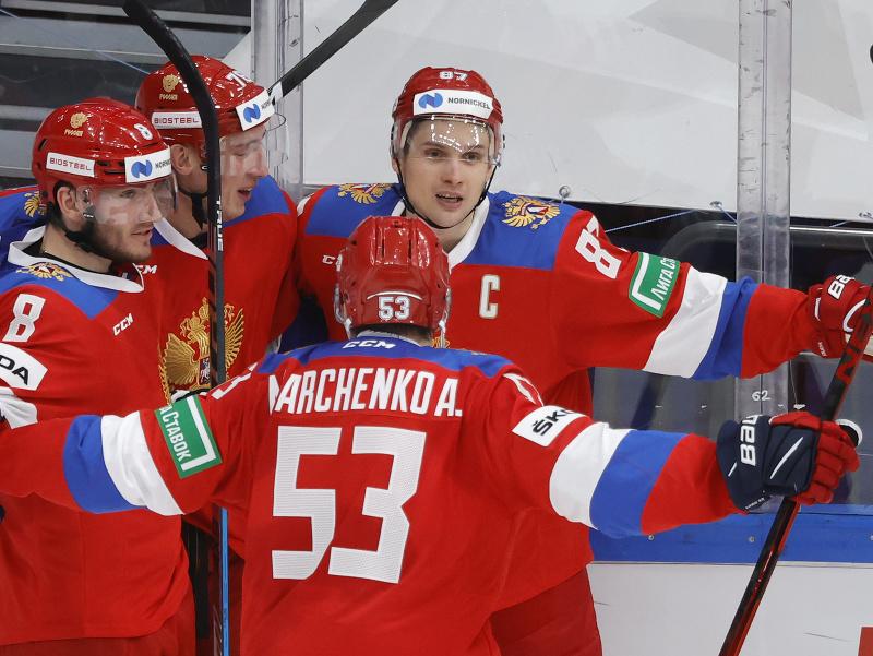 Radosť hokejistov Ruska